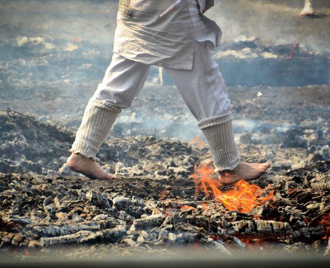Fire Walkers Fire Walking Festival Japanese Culture Hotcoals
