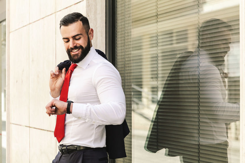 Model: Roberto Materiale Adult Architecture Beard Business Business Person Businessman Clothing Day Facial Hair Males  Men Menswear Office One Person Outdoors Real People Standing Three Quarter Length Well-dressed Young Adult Young Men