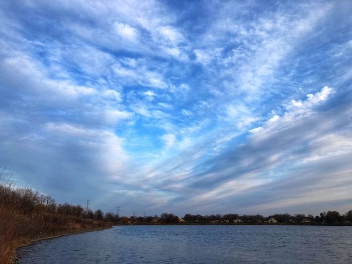 Cloudscape Clouds And Sky Horizon Over Water Cloud - Sky Sky Water Tranquility Scenics - Nature Beauty In Nature Tranquil Scene Lake Tree Nature Plant No People Non-urban Scene Day Outdoors Reflection Environment Blue Idyllic