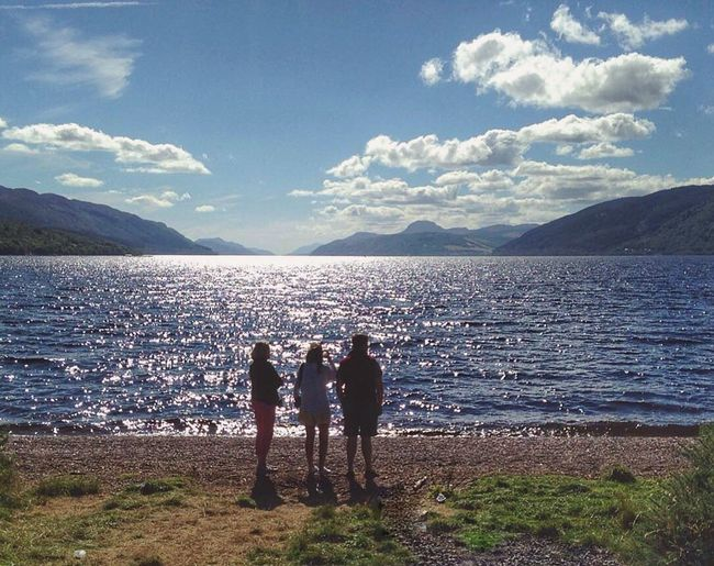 A lovely view down Loch Ness - Dores Beach Lochness Dores Dores Beach Scotland Scottish Highlands