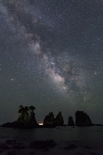 Astronomy Beauty In Nature Galaxy Milky Way Nature Night No People Rock Rock - Object Rock Formation Scenics - Nature Sky Solid Space Star Star - Space Star Field Tranquil Scene Tranquility Water