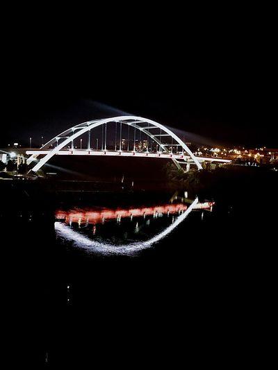 Bridge - Man Made Structure Night Connection Illuminated Dark Architecture City Built Structure Bridge Nashville Downtown Nashville Outdoors Water