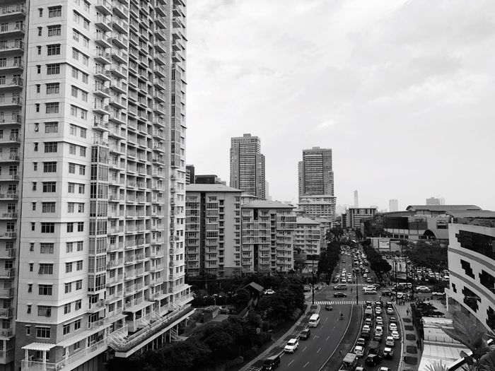 ...and... Buildings Architecture City Cityscape Modern Urban Landscape Simplicity Eyeem Philippines Looking Through Window Blackandwhite Monochrome