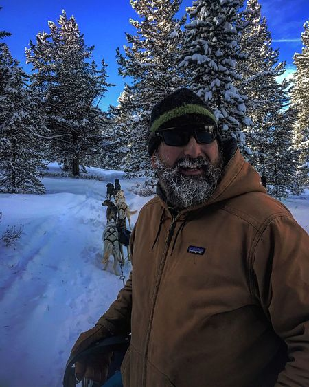 Man an his dogs Belowzero Yellowstone National Park Husky Winter Cold Temperature Snow Tree One Person Real People EyeEm Ready   Nature Warm Clothing Men Lifestyles Outdoors Day Portrait Sky One Man Only Beauty In Nature People