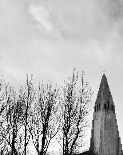 The steeple Leicacamera Hallgrìmskirkja Church Iceland Building Exterior Built Structure Architecture Sky Building Tree Plant Religion Travel Destinations Spirituality Travel