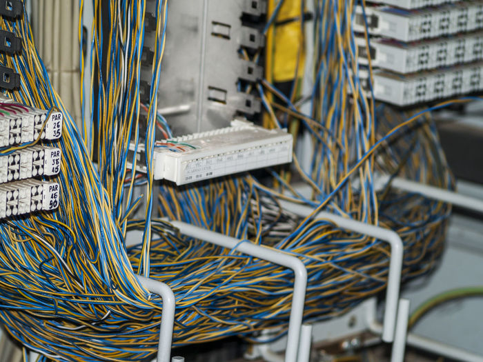Close-up of network cables