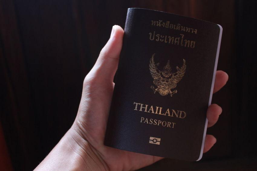 Along trip. Catch Passport Have A Passport Leave Thailand Message Passport Person Personal Perspective Text Thailand Passport Toured With Passport Yee's Passport