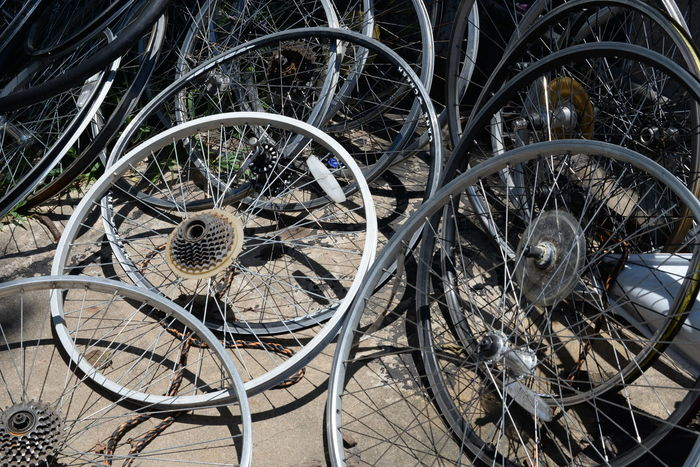 Wheely Bicycle Bicycle Shop Mode Of Transport No People Outdoors Rim Spoke Tire Transportation Wheel Workshop