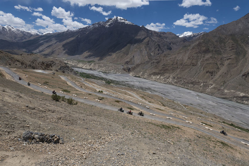 Bikers at Dhankar, Spiti Valley, India. Bikers Dhankar Dhankar Monastery India Travel Animal Themes Beauty In Nature Cloud - Sky Day Domestic Animals Himachal Landscape Mammal Mountain Mountain Range Nature No People Outdoors Road Scenics Sky Spiti Traveller Lost In The Landscape