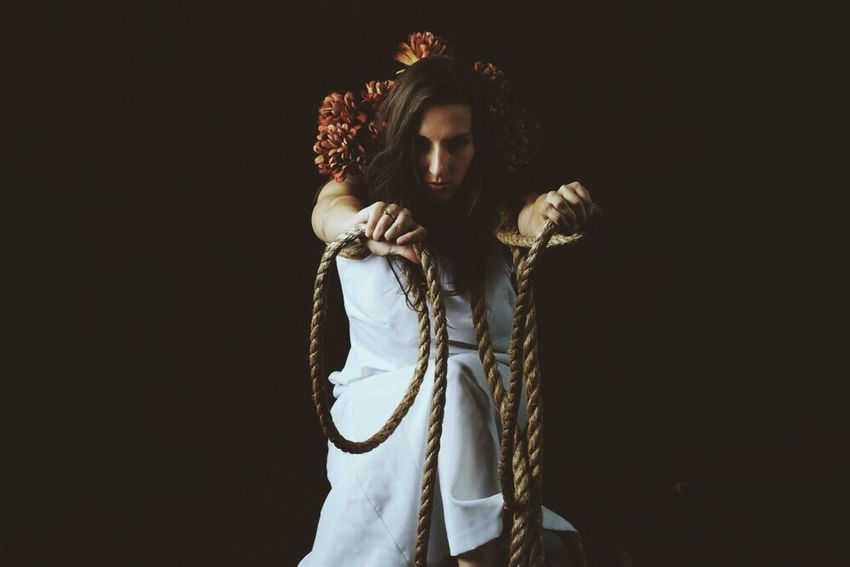 Woman Rope EyeEm Best Shots Eye4photography  Dreaming Cinematography Dynamic Freedom Portrait Of A Woman Point Of View ExpressYourself Capture The Moment Surealism Dreamscapes & Memories Style Captivity Capturing Freedom State Of Being State Of Mind  Artistic