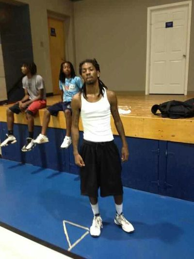 At The Gym Working Out