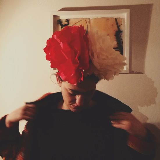 Fragility People Adult Red Indoors  One Person Day Human Body Part Picoftheday City Life Frida Khalo Flower Frıends Close-up Young Adult Art And Craft Mexico Adults Only Only Men One Man Only Real People Domestic Room Men Illuminated