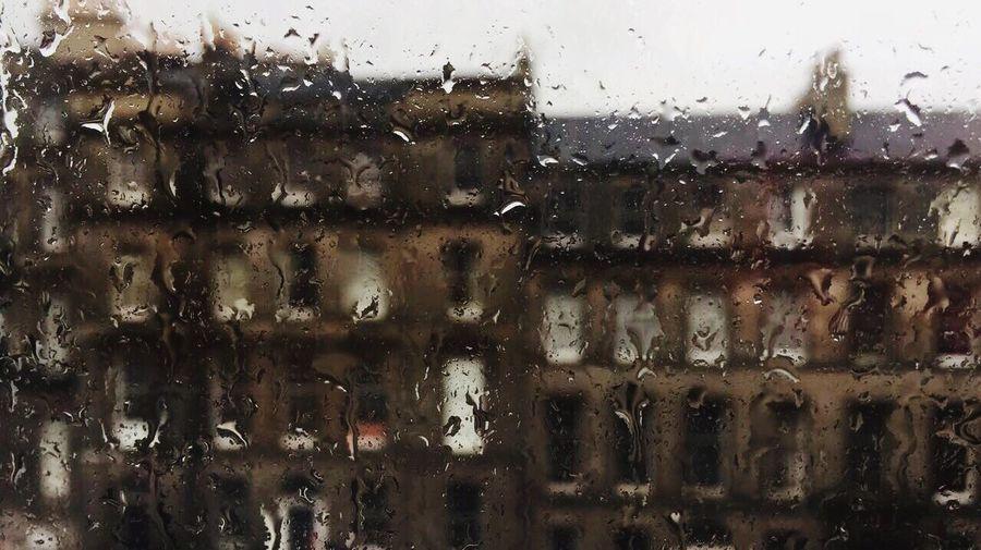 Edinburgh Wet Window Drop Glass - Material Rain Water Transparent Architecture Built Structure Nature No People Rainy Season Close-up RainDrop Glass Backgrounds Indoors  Building