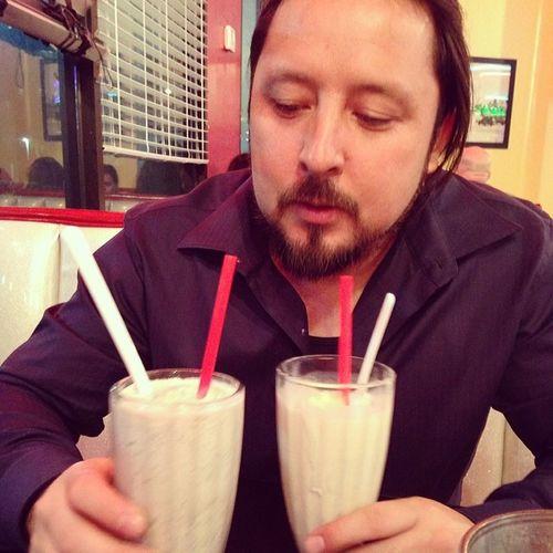 ....and milkshakes... He also inhaled a cheeseburger Fatkids Datenight Oreo Princeshamburgers supersolis13