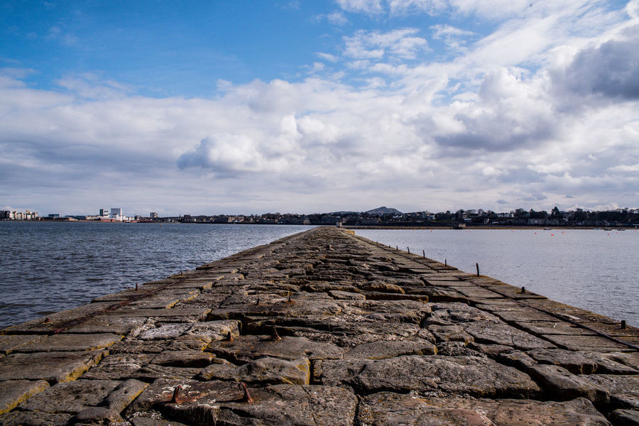 Architecture Beauty In Nature Built Structure Cloud - Sky Day Groyne Nature No People Outdoors Rock Rock - Object Scenics - Nature Sea Sky Solid Tranquil Scene Tranquility Water