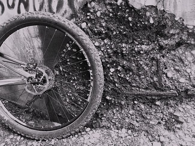 The Adventure Handbook urban mountain biking Mountain Biking Urbanphotography Urban Exploration Wheel Blackandwhite Black And White Cycling On Your Bike Shades Of Grey