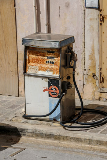 Gozo Malta Gozo Island Malta Pump Zapfsäule Benzin Cable Electricity  Fuel And Power Generation Gas Station Gasstation Gozo Gozoisland Maltaphotography No People Old Outdoors Petrol Petrol Station Power Supply Technology The Street Photographer - 2018 EyeEm Awards