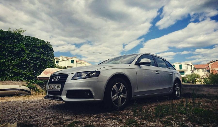 Car Audi Audi A4 Sunny☀ Daylight Clouds Clouds And Sky Photography Carsphotography