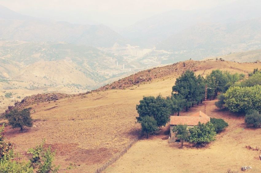 Montains    Montain House Calming Views Algeria. Contryside Contryhouse Lost In The Landscape