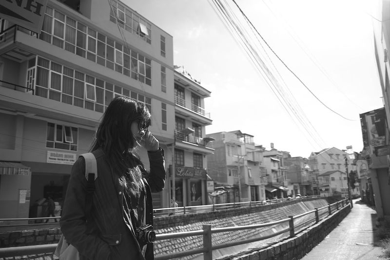 During the trip to Đà Lat- Central highland of Vietnam Apartment Architecture Black And White Building Building Exterior Built Structure Car City City Life Composition Contemporary Girl Modern Office Building Perspective Residential Building Residential District Residential Structure Skyscraper Street Urban Window