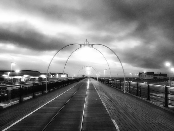 Sky The Way Forward Outdoors Arch Cloud - Sky Architecture City No People Storm Cloud Day Pier Black And White Blackandwhite Monochrome Street Photography Sunset Streetphotography