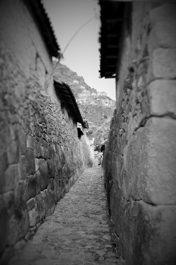 Ollantaytambo, Peru, Photo taken with an iPhone 4s. Architecture Building Exterior Built Structure Day Narrow Narrow Street Nature No People Ollantaytambo Ollantaytambo - Peru Outdoors Ruins Ruins Architecture Street Street Photography