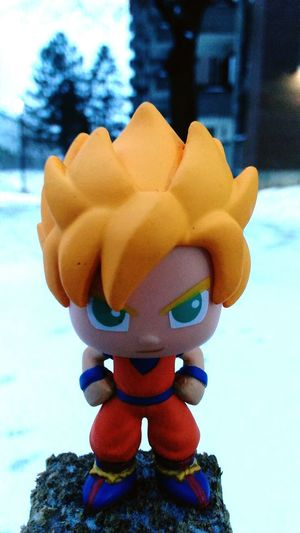 Goku Supersaiyan Outside My House Outdoors Nature Winter Figurine  Dragonball Z Eyeemtoyphotography Front View Close-up Sculpture Beauty Single Object Playinginthesnow One Person Fun Looking At Camera Dragonballz GOKUisthestrongest Amazing Snow Absolutely Incredible Yellowhair Orangeisthenewblack