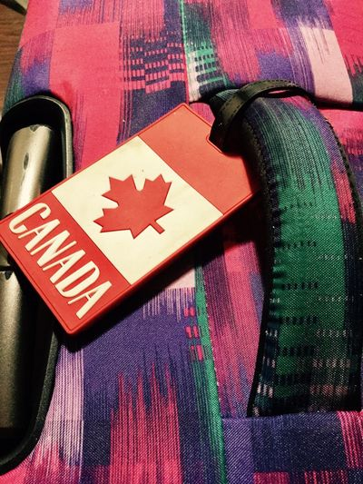 Time to travel Travellingtheworld Travellingtheworld On The Way Traveling Luggage Collection Multicolored Canada Flag Let's Go. Together. Connected By Travel Second Acts