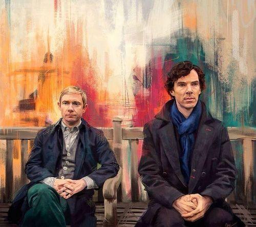 Sherlock Watson Johnlock Holmes