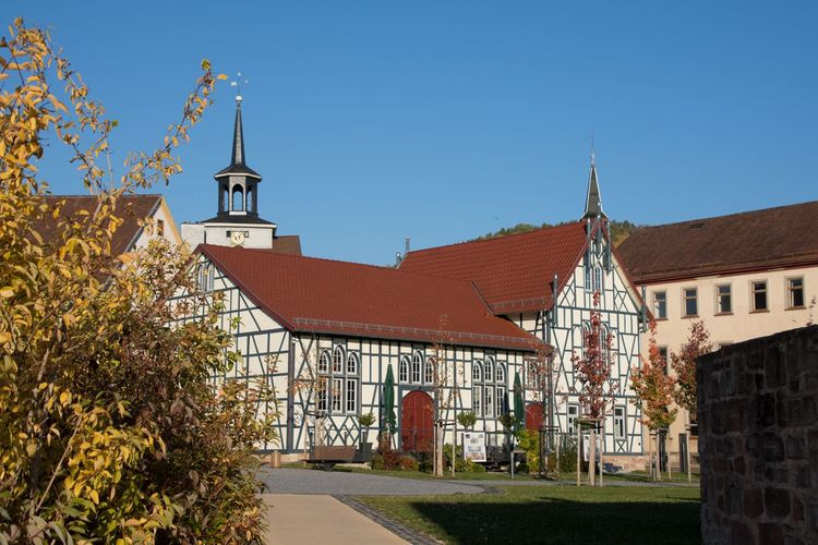 Herbstliches Schmalkalden Germany🇩🇪 Thuringia Clear Sky Autumn Blue Sky Architecture Building Exterior Historic Exterior Housing Settlement TOWNSCAPE