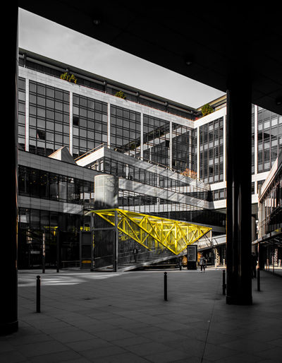 Streetwise Photography Architecture Built Structure Building Exterior No People Outdoors Yellow Industry Transportation City Day Building Flooring Railing Illuminated Absence Staircase Empty Nature Architectural Column Tiled Floor Ceiling Parking Garage Stuttgart