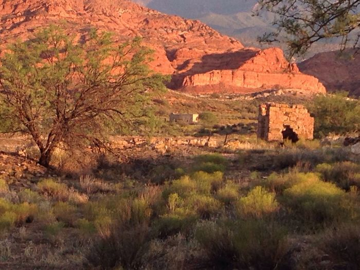 Red Cliffs Broken Down Building Old Bricks St. George St. George Utah Taking Photos Check This Out