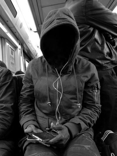 Parisian people VS Rer B One Person My Year My View People RER Paris ❤ Close-up Public Transportation Noir Et Blanc Huaweiphotography Subway Train Paris, France  Huawei P9 Leica Streetphotography RerB B/W Photography Real People Graphisme Blackandwhite Train Interior Person HuaweiP9