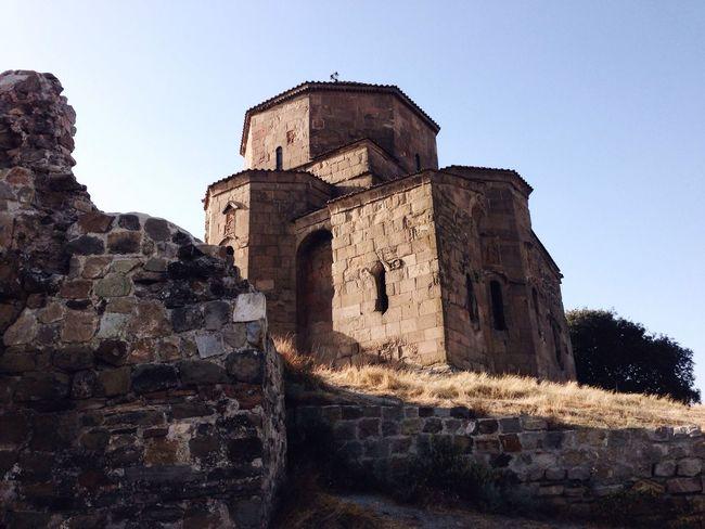 Architecture History Old Ruin Old Georgia Jvari Monastery Monastery