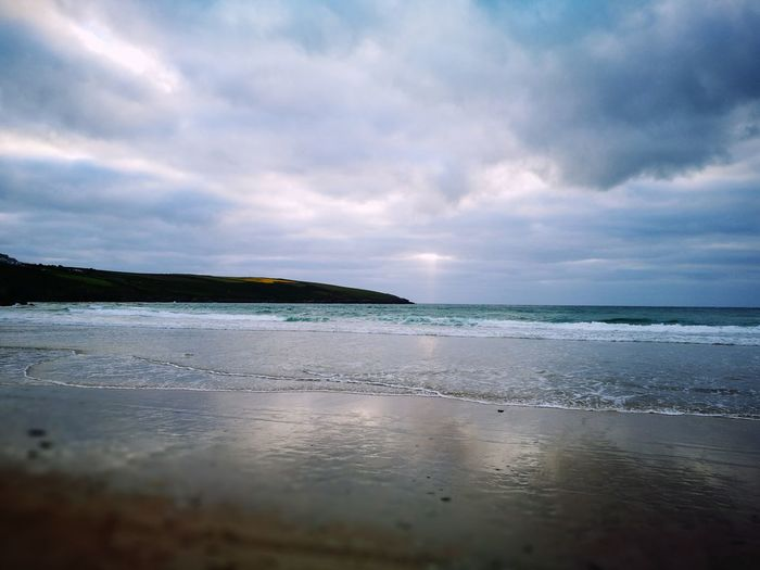 Crantock, beach Water Beach Dramatic Sky Cloud - Sky Landscape Scenics Tranquil Scene Reflection Beauty In Nature Tranquility Sea Outdoors Nature No People Travel Destinations Day Low Tide Sunset Sky Mountain