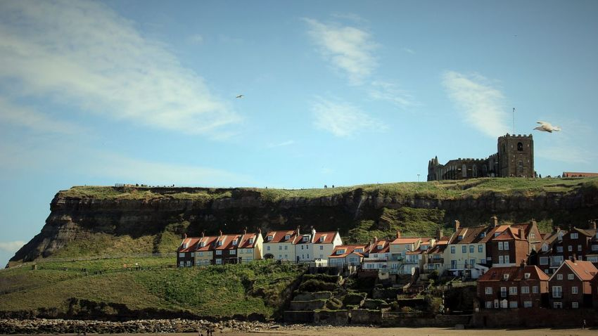 Architecture Built Structure Church Dracula Fiction Landscape Outdoors Sky Town Whitby Coastal Town Neighborhood Map