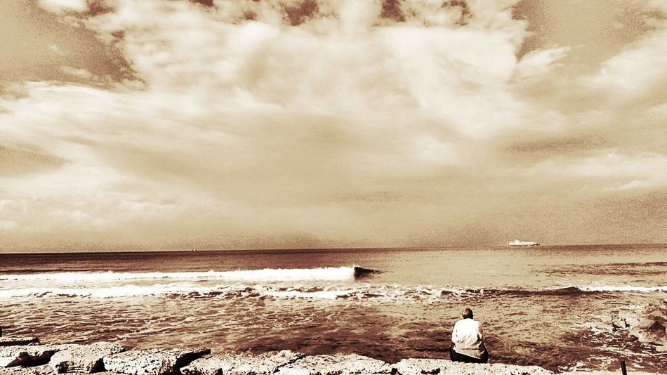 Looking in to the face of the storm Stormy Weather Lonely Urban Escape Sea View