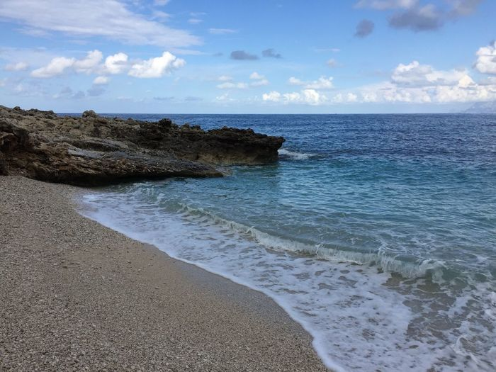 Ocean Ocean View Sea And Sky Cliff Cliffs Cliffside Sicily Sicilia Sizilien Blue Sky Blue Blue Wave Waves Turkois Water Seaside Seascape Beach Beachphotography Beach Photography Beach Walk Hiking Tranquility Traveling No People no filter