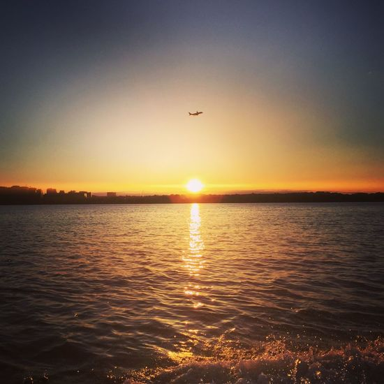 Washington, D. C. Washington DC Swdc Liveaboard Houseboat Airport Potomac River Sunset Boatlife Boat Ride First Eyeem Photo