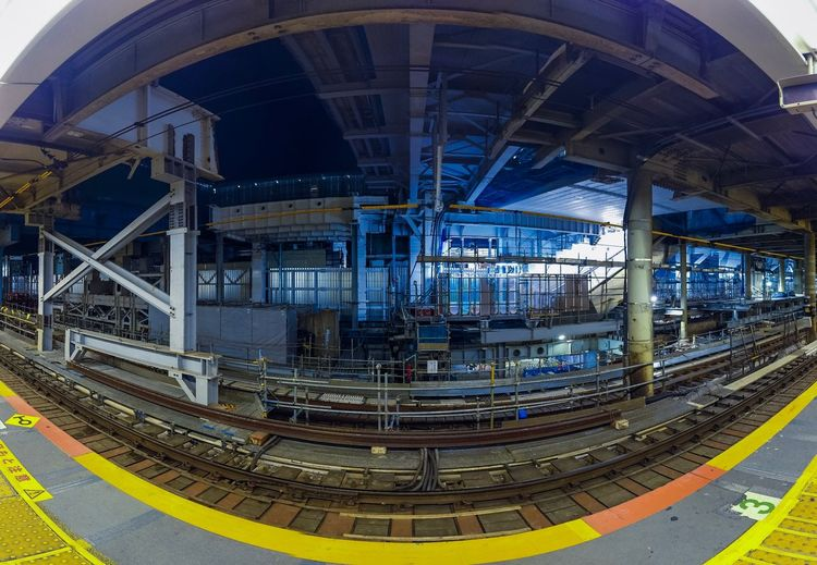 Shibuyascapes Abstract Cityscape Midnight Night Osmo Pocket DJI OSMO POCKET Dji No People Railroad Track Platform Japan Tokyo Architecture Built Structure No People Day Transportation Metal Bridge Connection Bridge - Man Made Structure Travel Building Exterior Travel Destinations Rail Transportation Yellow