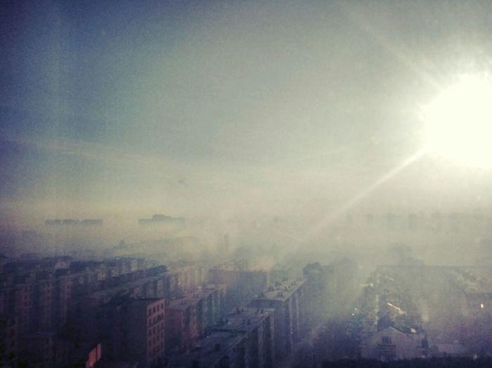 China Harbin Urban Foggy Foggy Morning Architecture Sunrise 中国 哈尔滨 城市 雾 日出 建筑物 중국 할빈 도시 건축물 안개 해돋이