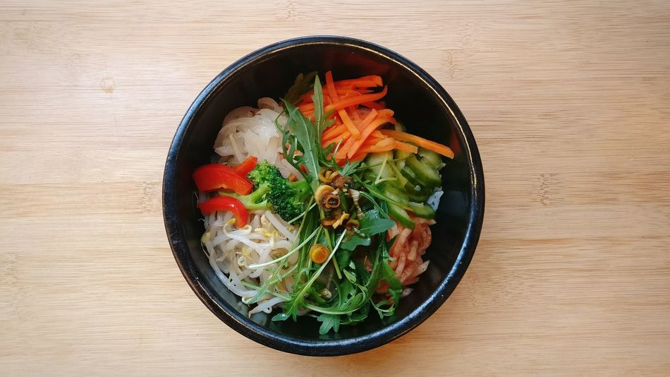 Korean food Ready-to-eat Directly Above Healthy Eating Food And Drink No People Asian Food Indoors  Day Food Bowl Table High Angle View Freshness