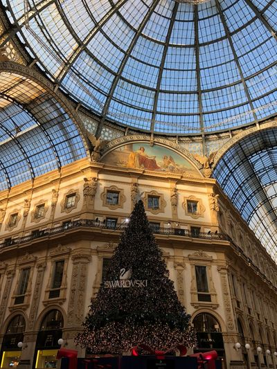 Addobbinatalizi Natale  Gallery Galleria Vittorio Emanuele Italy Milan Built Structure Low Angle View Indoors  Ceiling Christmas Tree Christmas Dome Day No People