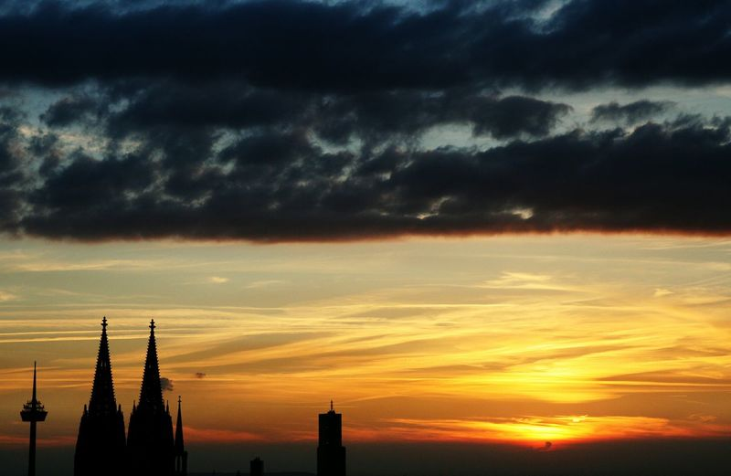 Sunset Cathedral Church Dom Skyline Enjoying The View Relax Dream Cologne Cologne Cathedral Karneval