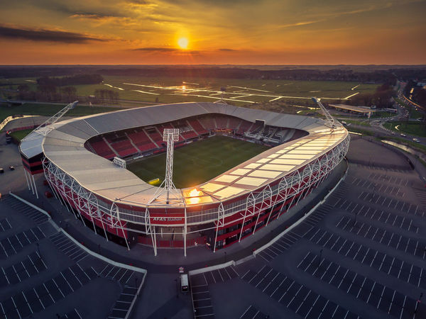 AZ Afas Stadion Alkmaar Architecture Building Exterior Built Structure City Cityscape Cloud - Sky Day High Angle View Horizon Over Water Nature No People Outdoors Sky Sport Stadium Sunset Voetbal