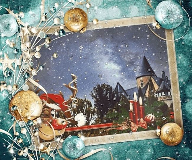 I wish a nice 3 Advent and a perfect Weekend Photo Effects Collage Art Castle Of Waldeck Christmas Decoration Snow ❄ 3 Advent Christmas No People