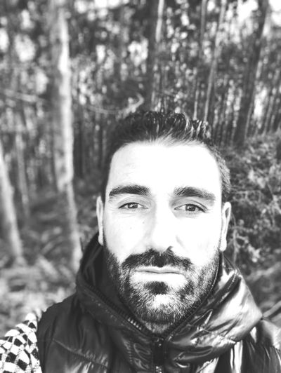 Forest Portrait Looking At Camera Tree Real People One Person Beard