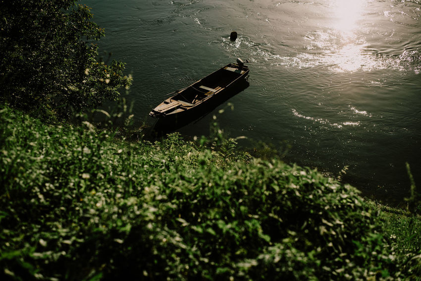 Drina River Bajinabasta Beauty In Nature Boath On River Boathouse Day Drina Nature River Sunset