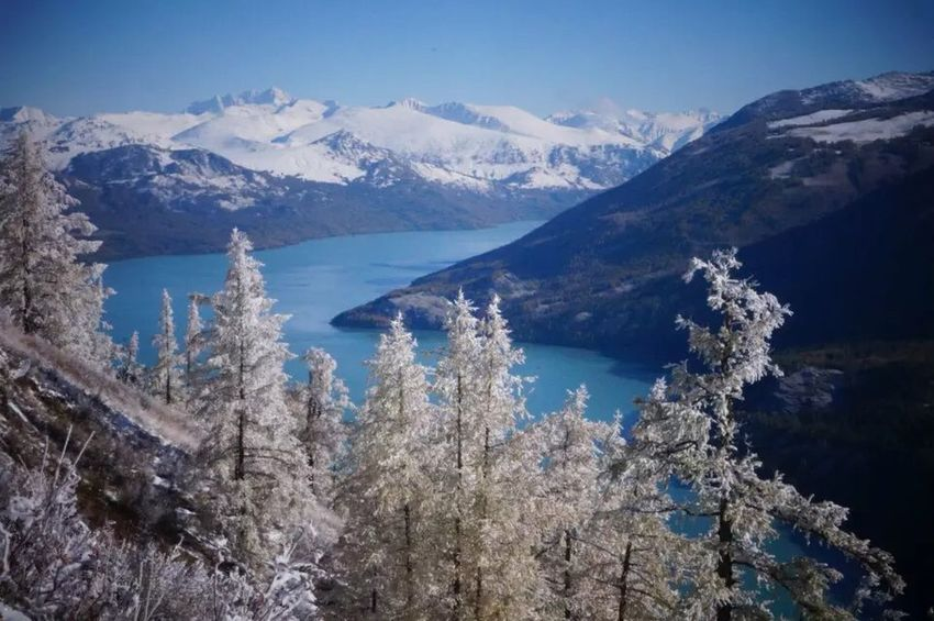 2015.9.27 China xinjiang Cold Temperature Mountain Nature Beauty In Nature Tranquil Scene Winter Snow Blue