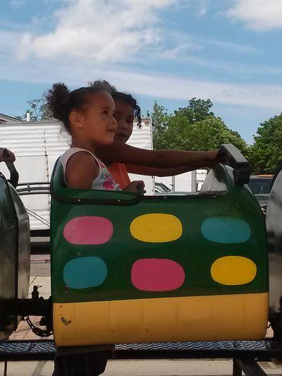 kids on a ride